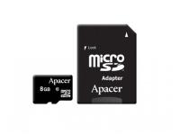 Карта памяти Apacer microSDHC 8GB Class 10 + SD-адаптер