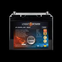 Аккумулятор для автомобиля литиевый LogicPower Lifepo4 24V-50Ah (+ слева, прямая полярность) пластик