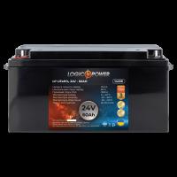Аккумулятор для автомобиля литиевый LogicPower Lifepo4 24V-60Ah (+ слева, прямая полярность) пластик