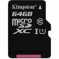Карта памяти Kingston microSDXC 64GB Canvas Select Class 10 UHS-1 U1