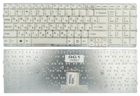 Клавиатура для ноутбука Sony VPC-EB Series белая без рамки Прямой Enter