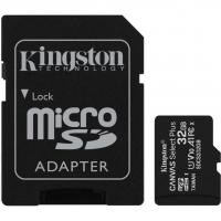 Карта памяти Kingston microSDHC 32GB Canvas Select Plus Class 10 UHS-I U1 V10 A1 + SD-адаптер