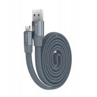 Кабель Devia Ring Y1 microUSB 2.4A 0.8M Серый