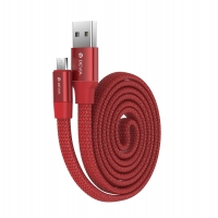 Кабель Devia Ring Y1 microUSB 2.4A 0.8M Красный