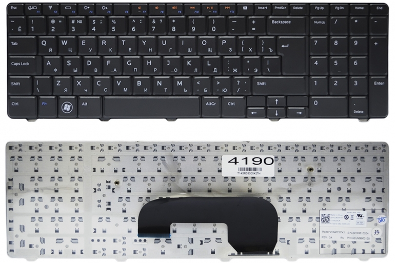 Клавиатура Dell Inspiron N7010 M7010 черная