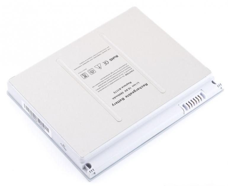 "Батарея для ноутбука Apple MacBook Pro 15"" A1150 10.8V 5800mAh, серая"