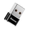 Переходник Baseus Female Type-C to USB Черный