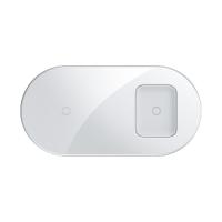 Беспроводное зарядное устройство Baseus Simple 2in1 Белый
