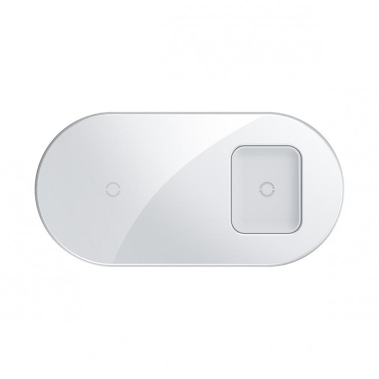 Беспроводное зарядное устройство Baseus Simple 18W 2 in 1 Белый