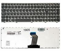 Клавиатура для ноутбука Lenovo IdeaPad G570 Z560 Z560A Z565A B580 B590 черная/серая