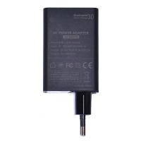 Сетевое зарядное устройство KFD Qualcomm Quick Charge 3.0, 3 порта USB, Черный