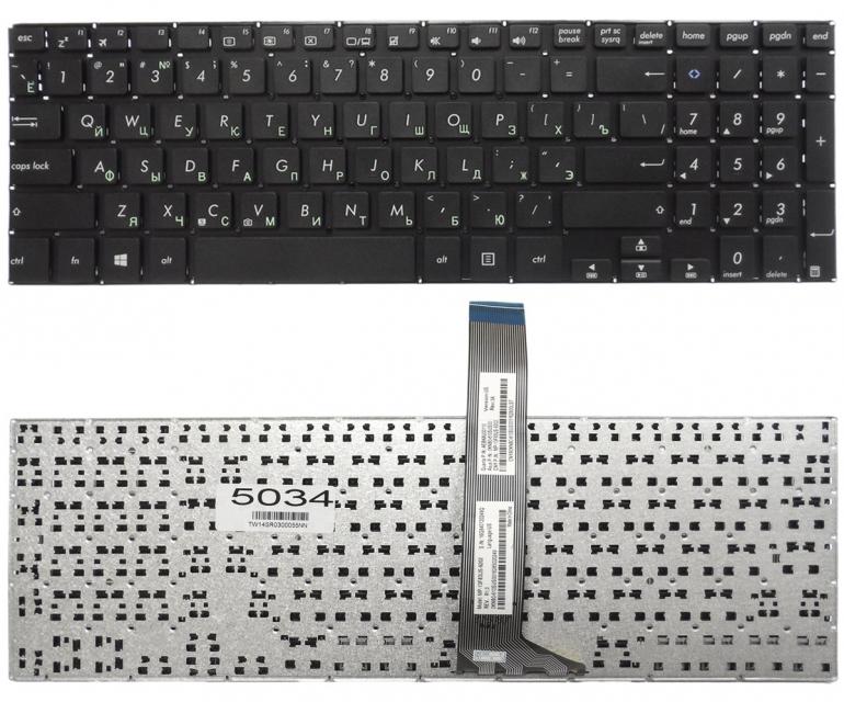 Клавиатура Asus A551L A551C A551M K551L S551L V551L черная без рамки Прямой Enter