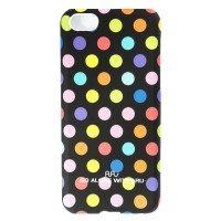 Чехол ARU для iPhone 5C Cutie Dots Black Rainbow