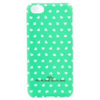 Чехол ARU для iPhone 5C Hearts Green