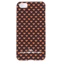 Чехол ARU для iPhone 5C Hearts Dark Blue