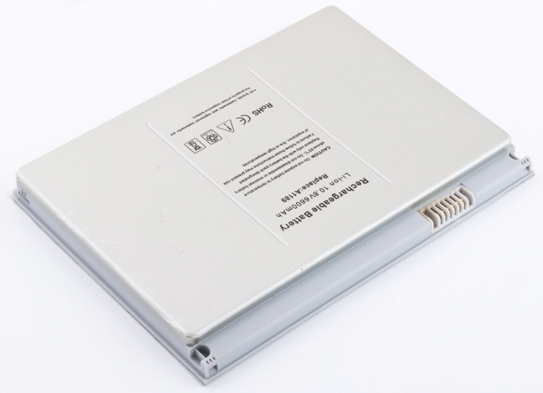 Батарея для ноутбука Apple MacBook Pro 17 A1151 10.8V 5800mAh, серая