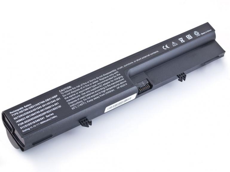 Батарея для ноутбука HP 6530b 6730b EliteBook 6930p 8440p ProBook 6540b 10.8V 6600mAh