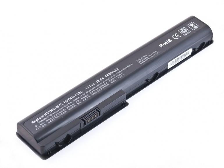 Батарея для ноутбука HP Pavilion DV7 DV70 HSTNN-Q35C HSTNN-XB73 10.8V 4800mAh