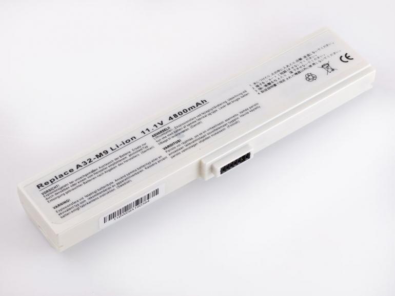 Батарея для ноутбука Asus M9 W7 A32-M9 A33-W7 11.1V 4800mAh, белая