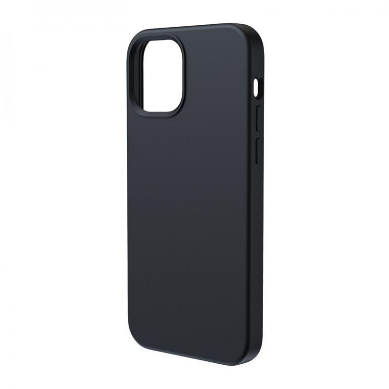 Чехол Baseus Liquid Silica Gel Magnetic + защитное стекло для iPhone 12/12 Pro Черный
