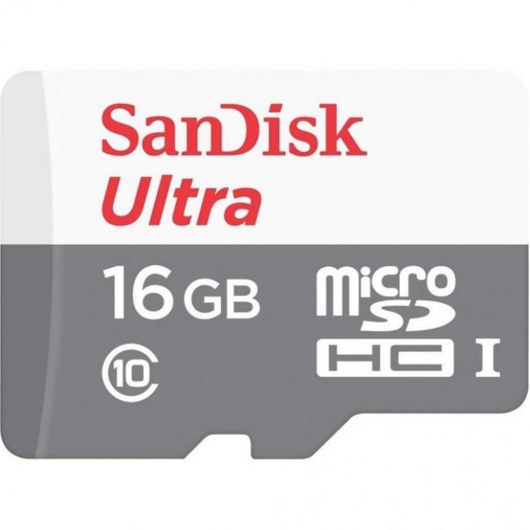 Карта памяти SanDisk Ultra microSDHC 16GB Class 10 UHS-1