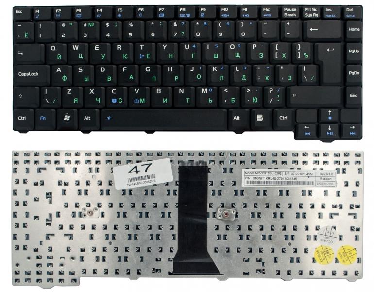 Клавиатура для ноутбука Asus F2 F3 F3J F3JC F3JM F3T F5 T11 черная 24pin