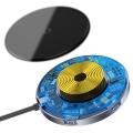 Беспроводное зарядное устройство Baseus Circular Mirror + USB Hub Type-C to USB3.0*1 + USB2.0*3 + Type-C PD Deep Gray