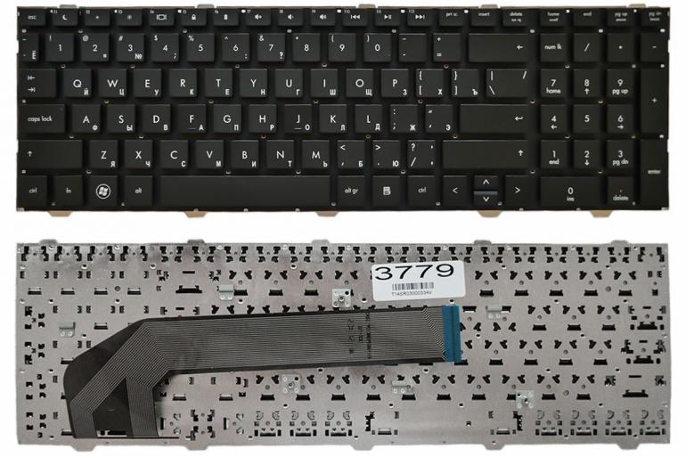 Клавиатура для ноутбука HP ProBook 4540S 4545S 4740S черная без рамки Прямой Enter