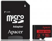 Карта памяти Apacer microSDHC 32GB Class 10 UHS-1 (R85 MB/s) + SD-адаптер