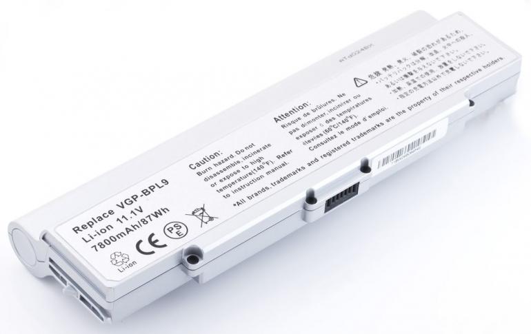 Батарея для ноутбука Sony VAIO VGN AR CR 11.1V 6600mAh, серая