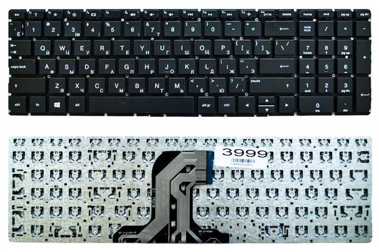 Клавиатура HP 250 G4 255 G4 256 G4 250 G5 255 G5 256 G5 15-AC 15-AF 15-AY 15-BA черная без рамки Прямой Enter