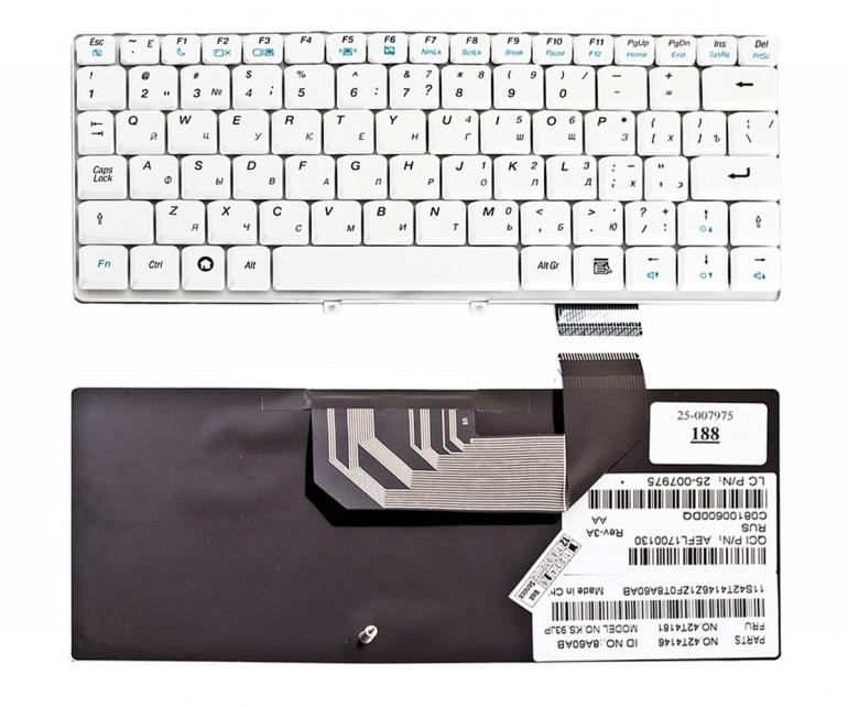 Клавиатура для ноутбука Lenovo IdeaPad S9 S9E S10 S10E белая