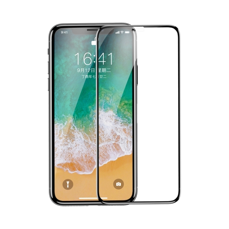 Защитное cтекло Baseus для Apple iPhone X/Xs, 0.3mm, Black