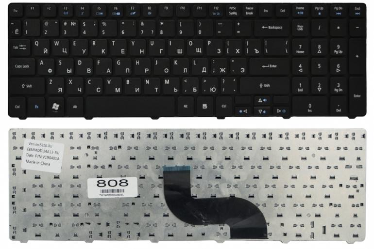 Клавиатура для ноутбука Acer Aspire 5338 5410T 5536 5538 5542 5738 5739 5740 5741 5810T 7540 7738 7740 черная