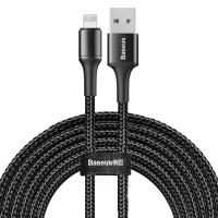 Кабель Baseus Halo USB 2.0 to Lightning 2A 3M Черный