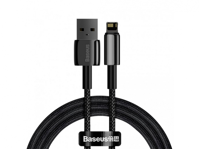 Кабель Baseus Tungsten Gold USB 2.0 to Lightning 2.4A 1M Черный