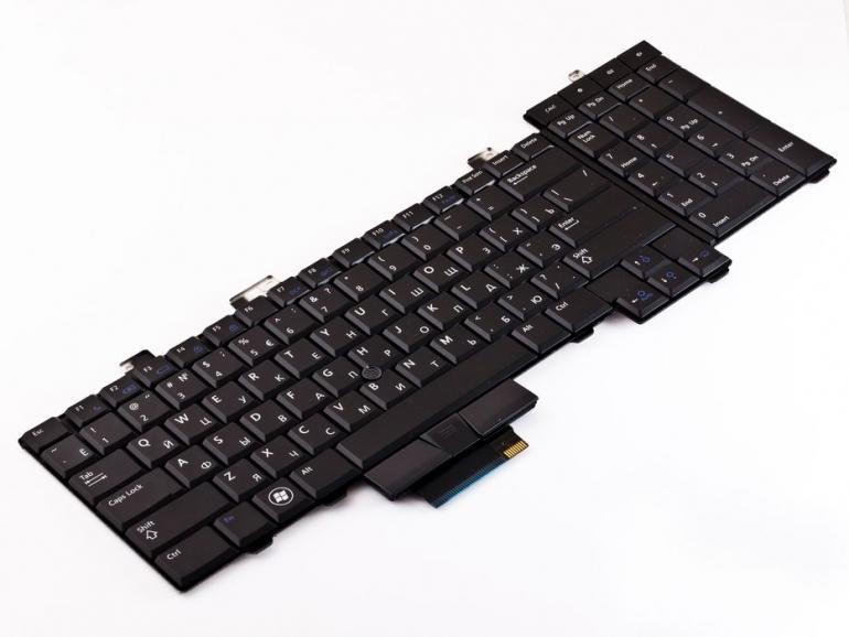 Клавиатура для ноутбука Dell Precision M6400 черная PointStick Подсветка
