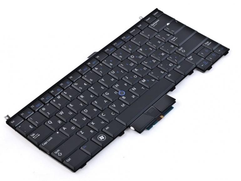 Клавиатура для ноутбука Dell Latitude E4310 E4300 черная PointStick Подсветка