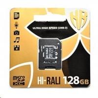 Карта памяти Hi-Rali MicroSDXC 128GB Class 10 + адаптер UHS-I U3