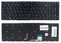 Клавиатура Lenovo IdeaPad Y50-70 Y50-70A Y50-80 Y70-70 черная без рамки Прямой Enter подсветка
