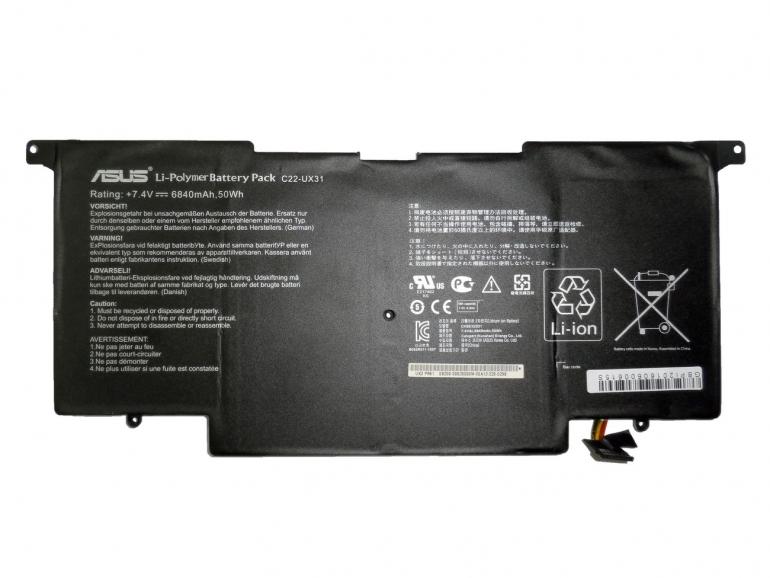 Батарея Asus UX31 UX31A UX31E 7,4V 6840mAh