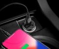 Автомобильное зарядное устройство Baseus Gentleman 4.8A Dual-USB Black