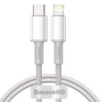 Кабель Baseus High Density Braided Type-C to Lightning PD 20W 1M Белый