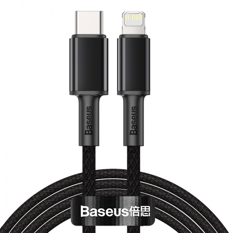 Кабель Baseus High Density Braided Type-C to Lightning PD 20W 2M Черный