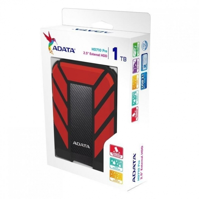 Внешний HDD ADATA HD710 1TB USB 3.0 Pro Durable Red