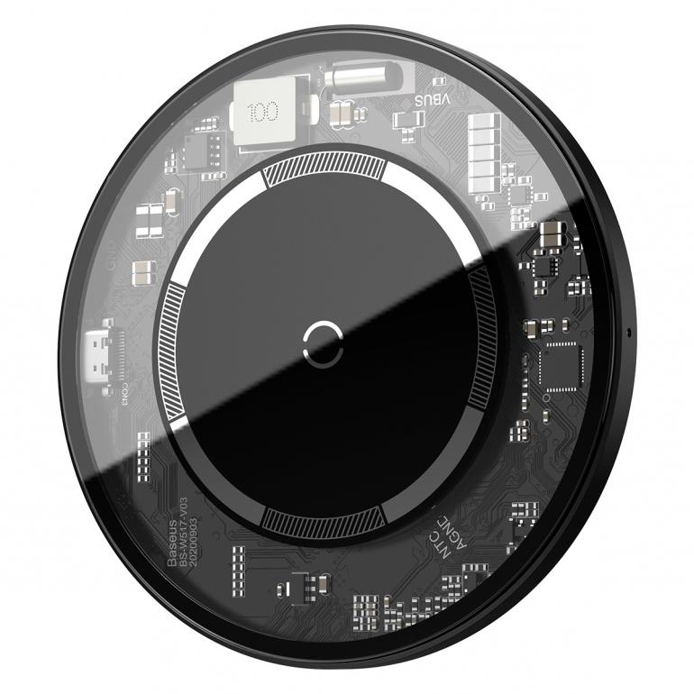 Беспроводное зарядное устройство Baseus Simple Magnetic Прозрачный