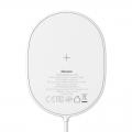 Беспроводное зарядное устройство Baseus Light Magnetic 15W для iPhone 12 Белый