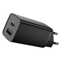 Сетевое зарядное устройство Baseus GaN2 Lite 2 порта, USB + Type-C 65W Черный