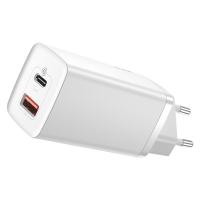 Сетевое зарядное устройство Baseus GaN2 Lite 2 порта, USB + Type-C 65W Белый