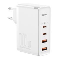 Сетевое зарядное устройство Baseus GaN2 Pro 3 порта, USB*2 + Type-C*2 100W Белый